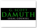 Damuth Law Logo, Door Decal & Signage