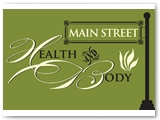 Main Street Health & Body Logo & Signage